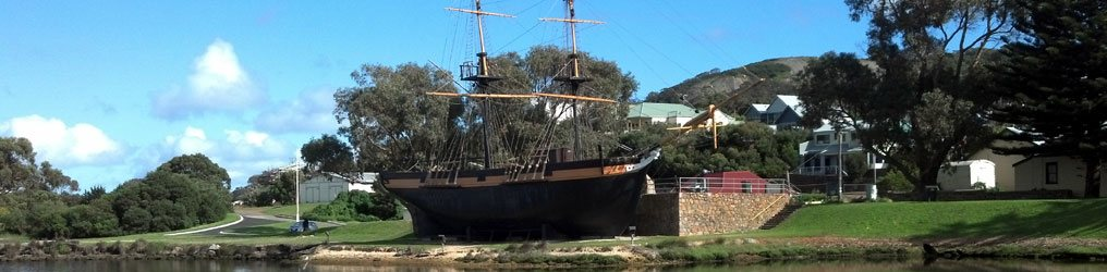 Brig Amity Replica and Albany Foreshore