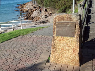 Ellen Cove Plaque
