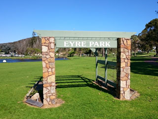 Entrance to Eyre Park