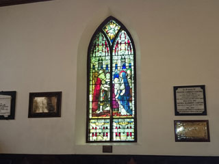 Stained glass window inside Saint Johns Church