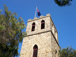 The bell tower of Saint Johns Church