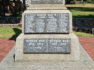 World War 2, Korean, Vietnam plaque.